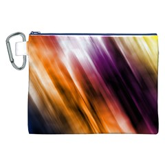 Colourful Grunge Stripe Background Canvas Cosmetic Bag (xxl) by Nexatart