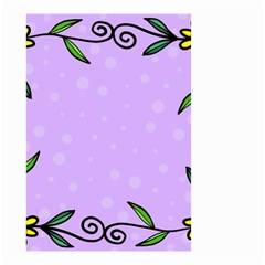 Hand Drawn Doodle Flower Border Small Garden Flag (two Sides)