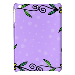 Hand Drawn Doodle Flower Border Apple Ipad Mini Hardshell Case by Nexatart