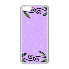 Hand Drawn Doodle Flower Border Apple Iphone 5c Seamless Case (white) by Nexatart