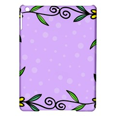 Hand Drawn Doodle Flower Border Ipad Air Hardshell Cases
