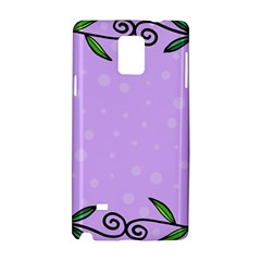 Hand Drawn Doodle Flower Border Samsung Galaxy Note 4 Hardshell Case by Nexatart