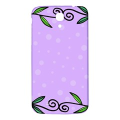 Hand Drawn Doodle Flower Border Samsung Galaxy Mega I9200 Hardshell Back Case by Nexatart