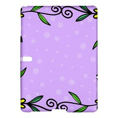 Hand Drawn Doodle Flower Border Samsung Galaxy Tab S (10 5 ) Hardshell Case  by Nexatart
