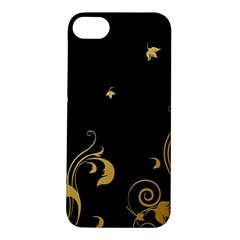 Golden Flowers And Leaves On A Black Background Apple Iphone 5s/ Se Hardshell Case