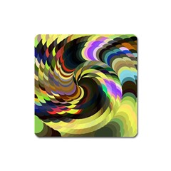 Spiral Of Tubes Square Magnet by Nexatart
