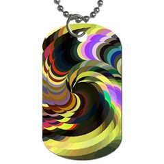 Spiral Of Tubes Dog Tag (one Side) by Nexatart