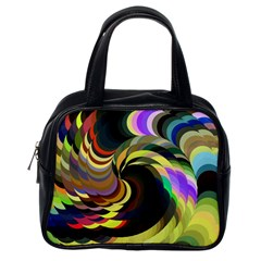 Spiral Of Tubes Classic Handbags (one Side)