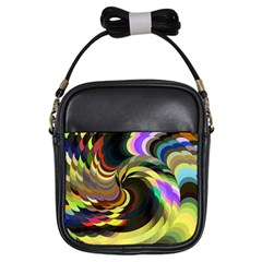 Spiral Of Tubes Girls Sling Bags by Nexatart