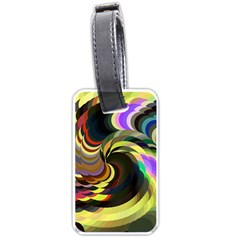 Spiral Of Tubes Luggage Tags (one Side)