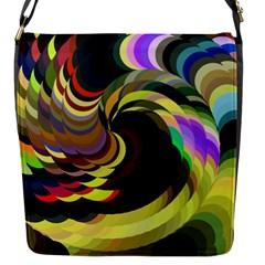 Spiral Of Tubes Flap Messenger Bag (s)
