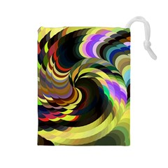 Spiral Of Tubes Drawstring Pouches (large)
