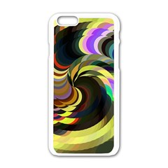 Spiral Of Tubes Apple Iphone 6/6s White Enamel Case by Nexatart