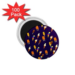 Seamless Cartoon Ice Cream And Lolly Pop Tilable Design 1 75  Magnets (100 Pack)