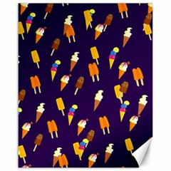 Seamless Cartoon Ice Cream And Lolly Pop Tilable Design Canvas 16  X 20