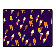Seamless Cartoon Ice Cream And Lolly Pop Tilable Design Fleece Blanket (small)