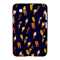 Seamless Cartoon Ice Cream And Lolly Pop Tilable Design Samsung Galaxy Tab 2 (7 ) P3100 Hardshell Case  by Nexatart