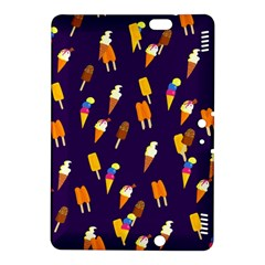 Seamless Cartoon Ice Cream And Lolly Pop Tilable Design Kindle Fire Hdx 8 9  Hardshell Case