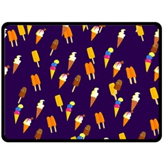 Seamless Cartoon Ice Cream And Lolly Pop Tilable Design Double Sided Fleece Blanket (large)