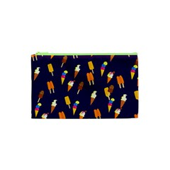 Seamless Cartoon Ice Cream And Lolly Pop Tilable Design Cosmetic Bag (xs) by Nexatart