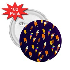 Seamless Cartoon Ice Cream And Lolly Pop Tilable Design 2 25  Buttons (100 Pack)