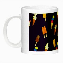 Seamless Cartoon Ice Cream And Lolly Pop Tilable Design Night Luminous Mugs by Nexatart