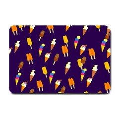 Seamless Cartoon Ice Cream And Lolly Pop Tilable Design Small Doormat  by Nexatart