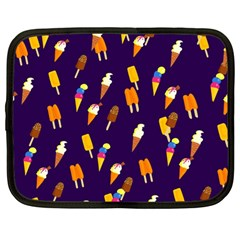 Seamless Cartoon Ice Cream And Lolly Pop Tilable Design Netbook Case (large) by Nexatart