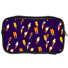 Seamless Cartoon Ice Cream And Lolly Pop Tilable Design Toiletries Bags by Nexatart