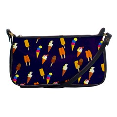 Seamless Cartoon Ice Cream And Lolly Pop Tilable Design Shoulder Clutch Bags by Nexatart
