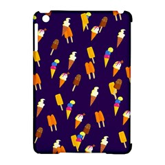 Seamless Cartoon Ice Cream And Lolly Pop Tilable Design Apple Ipad Mini Hardshell Case (compatible With Smart Cover)