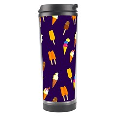 Seamless Cartoon Ice Cream And Lolly Pop Tilable Design Travel Tumbler