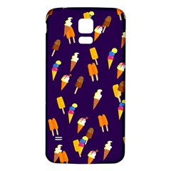 Seamless Cartoon Ice Cream And Lolly Pop Tilable Design Samsung Galaxy S5 Back Case (white)