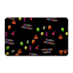 Cartoon Birthday Tilable Design Magnet (rectangular) by Nexatart
