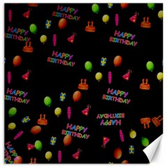 Cartoon Birthday Tilable Design Canvas 16  X 16   by Nexatart