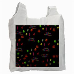 Cartoon Birthday Tilable Design Recycle Bag (one Side) by Nexatart