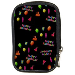 Cartoon Birthday Tilable Design Compact Camera Cases by Nexatart