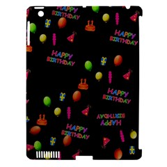 Cartoon Birthday Tilable Design Apple Ipad 3/4 Hardshell Case (compatible With Smart Cover)