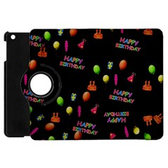 Cartoon Birthday Tilable Design Apple Ipad Mini Flip 360 Case