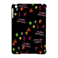 Cartoon Birthday Tilable Design Apple Ipad Mini Hardshell Case (compatible With Smart Cover) by Nexatart