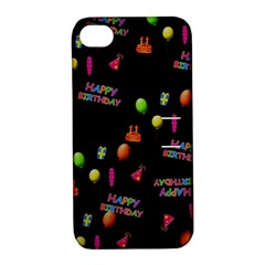 Cartoon Birthday Tilable Design Apple Iphone 4/4s Hardshell Case With Stand