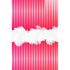 Digitally Designed Pink Stripe Background With Flowers And White Copyspace 5 5  X 8 5  Notebooks by Nexatart