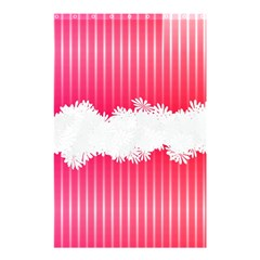 Digitally Designed Pink Stripe Background With Flowers And White Copyspace Shower Curtain 48  X 72  (small)  by Nexatart