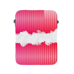 Digitally Designed Pink Stripe Background With Flowers And White Copyspace Apple Ipad 2/3/4 Protective Soft Cases by Nexatart