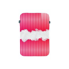 Digitally Designed Pink Stripe Background With Flowers And White Copyspace Apple Ipad Mini Protective Soft Cases