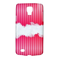 Digitally Designed Pink Stripe Background With Flowers And White Copyspace Galaxy S4 Active by Nexatart