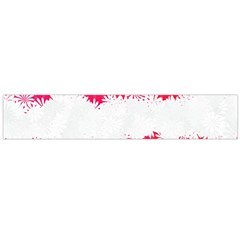 Digitally Designed Pink Stripe Background With Flowers And White Copyspace Flano Scarf (large) by Nexatart
