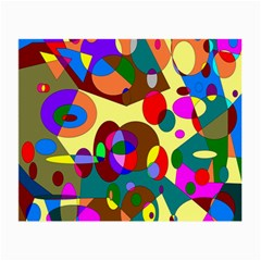 Abstract Digital Circle Computer Graphic Small Glasses Cloth (2 Side)