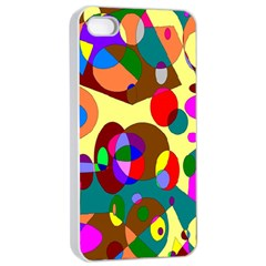 Abstract Digital Circle Computer Graphic Apple Iphone 4/4s Seamless Case (white)