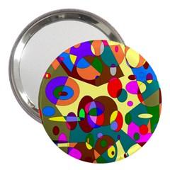 Abstract Digital Circle Computer Graphic 3  Handbag Mirrors by Nexatart